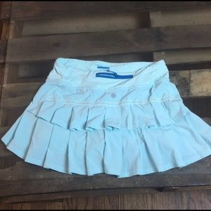 Blue Lulu lemon tennis shorts